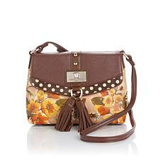 Sharif Digital Print Crossbody with Suede Tassels