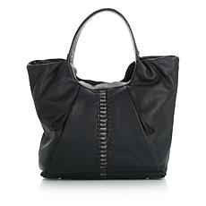 Sharif Soft Leather Braided Tote