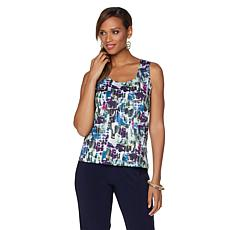 Slinky® Brand Printed Scoop-Neck Tank Top