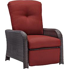 Strathmere Outdoor Reclining Arm Chair - Crimson Red