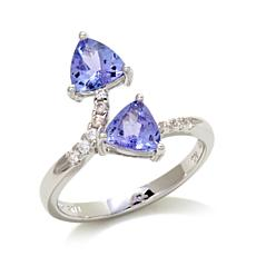 Victoria Wieck 1.32ct Tanzanite and Zircon Bypass Ring