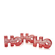 "Winter Lane ""Ho, Ho, Ho"" Sign Set with LED Lights"