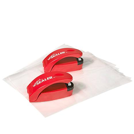 SmartSealer Battery-Operated Storage Bag Sealer 2-pack