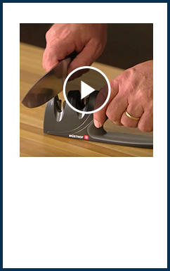 Learn how to sharpen a knife with a handheld sharpener