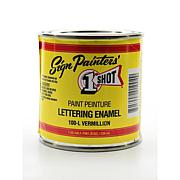 1-Shot Lettering Enamel - Vermillion Half Pint 100L