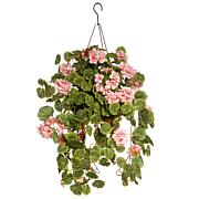 "11"" Artificial Geranium Hanging Basket"