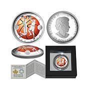 2016 $25 Canada Anniversary Basketball Silver Coin
