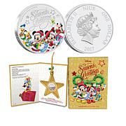2017 Disney Season's Greetings Silver Coin