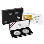 2018 World War I Centennial Silver Dollar and Marine Silver Medal Set