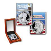 2020 PR70 ANACS FDOI LE 3,196 Silver Eagle Dollar Coin