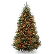 Dunhill Fir Hinged Tree w/Multicolor Lights
