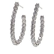 Absolute™ 3.90ctw Cubic Zirconia Round Stone Linear Drop Earrings
