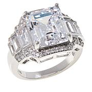 Absolute™ Sterling Silver Emerald-Cut Statement Ring