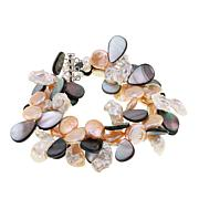 Amara Jewelry Collection Multi Cultured Pearl 3-Row Cluster Bracelet