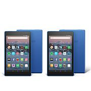 """Amazon Fire HD 8"""" IPS 16GB Alexa-Enabled Tablet 2-pack with Vouchers"""