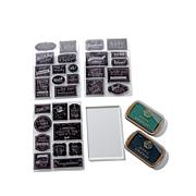 Anna Griffin® Chalkboard Sentiment Stamp Set