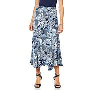 Antthony Asymmetric Printed Skirt