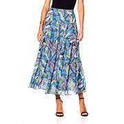 "Antthony ""Color Fusion"" Printed Chiffon Skirt"