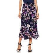 """Antthony """"Mysterious Lady"""" Printed Chiffon Skirt"""