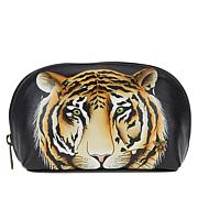 Anuschka Handpainted Leather Cosmetic Pouch