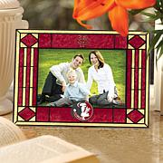 Art Glass Horizontal Picture Frame- NCAA