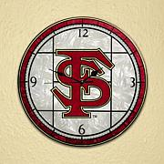 Art Glass Wall Clock - Florida State University