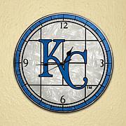 Art Glass Wall Clock - Kansas City Royals
