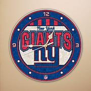 Art Glass Wall Clock - New York Giants