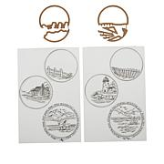 Art Impressions Circlet TryFold Cabin and Lighthouse Stamps and Dies