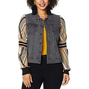 """""""As Is"""" Brittany Humble Sweater Sleeve Denim Jacket"""