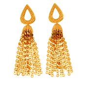 Asa Jewelry Goldtone Teardrop Tassel Earrings