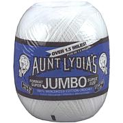 Aunt Lydia's Jumbo Crochet Cotton - White