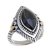 Bali Designs Marquise Peacock Mother-of-Pearl Ring