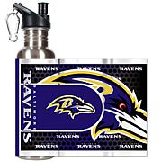 Baltimore Ravens Stainless Steel Water Bottle with Metallic Graphics
