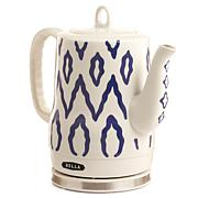 Bella Ceramic Electric Kettle - Blue Aztec