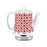 Bella Electric Ceramic Kettle - Red Ikat