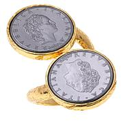 Bellezza 50 Lira Coin Bronze Bypass Ring