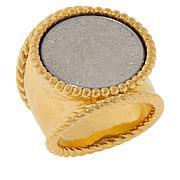 "Bellezza ""Bee"" Lira Coin Bronze Hammered Shank Ring"