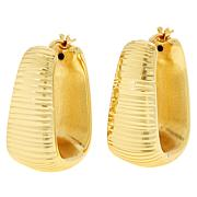 Bellezza Bronze Electroform Squared Hoop Earrings