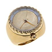 "Bellezza ""Fastrada"" 50 Lira Coin Bronze Ring Watch"