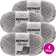 Bernat Blanket Big Ball Yarn 4-pack - Pale Gray