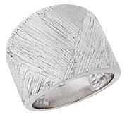 Bianca Milano Sterling Silver Basketweave Ring