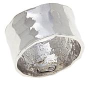 Bianca Milano Sterling Silver Hammered Band Ring