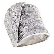 Bianca Milano Sterling Silver Wide Textured Ring