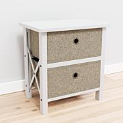 Brookside Two Drawer Fabric Storage Chest