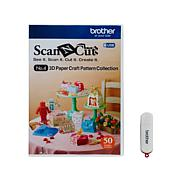 Brother ScanNCut 3D Paper Design Collection USB