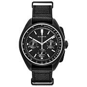 Bulova Men's Special Edition Lunar Pilot Leather Chronograph Watch
