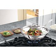 "Calphalon Tri-Ply 12"" Stainless Steel Stir Fry Pan"