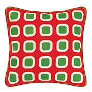 C&F Home Christmas Block Pillow