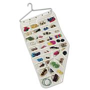 Canvas Jewelry 80-pocket Organizer with Aluminum Hanger